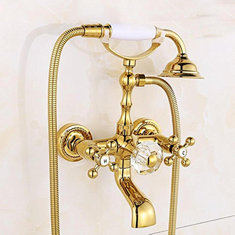 Caribou@Europische Vintage Messing schwenkbar Dusche Set Dusche Wasserhahn , 1