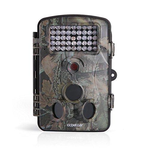 Wildkamera CCbetter 2,4 Zoll 12 Megapixel (12 MP) 1080P HD 120 Grad Weitwinkel wasserdichte IP54 Kamera mit 42 PC IR LEDs für Nacht Vision …