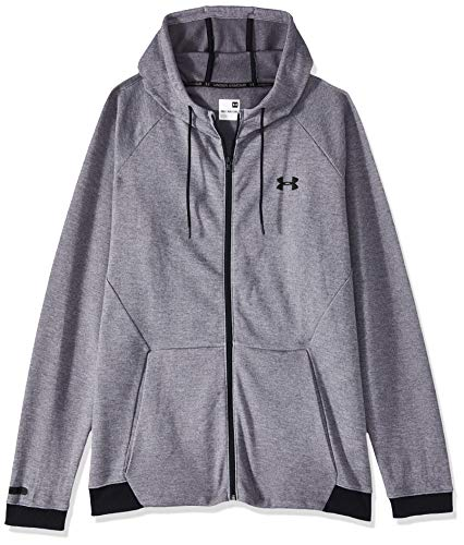 Under Armour Unstoppable 2X Knit FZ Sudadera, Hombre, Gris (Steel/Black/Black (035), 2XL