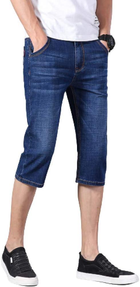 Men's Shorts Casual Large Size Fashion Summer Thin Slim Stretch Denim Shorts 29