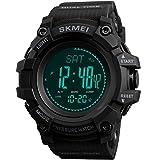 Uomo altimetro barometro bussola digitale esterno orologio sportivo fitness contapassi Activity...