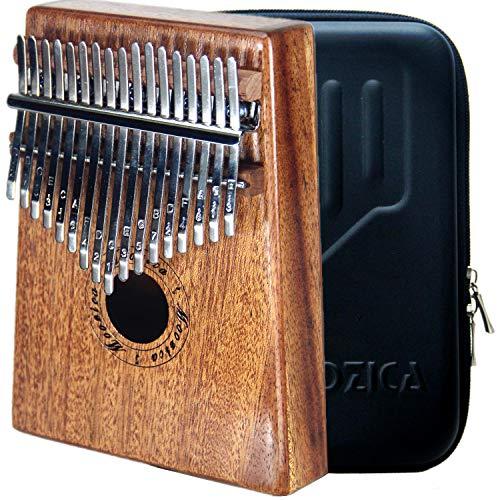 Moozica 17 Schlüssel Kalimba Marimba, High Qualität Professionelle Finger Daumen Piano Musikinstrument Geschenk (Mahagon Holz-K17M)