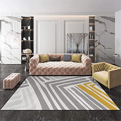 Teppich Moderner Wohnzimmer weicher Teppich Weiche Teppichoberfläche, hochwertige antibakterielle Studie, staubdichter, Antifouling- und schmutzabweisender Teppich Teppich 120 * 170CM