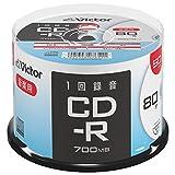 JVCケンウッド 音楽用CD-R 50枚スピンドル AR80FP50SJ2 1ケース100枚