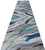 Pasillo de alfombras Corredor en el Nordic máquina Moderna insonorizada Lavable Antideslizante Alfombra de ratón for Sala de Estar Porche 0223 (Size : 0.6×11M)