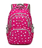 Fanci Candy Color Kids School Backpack Lovely Dog Paw or Butterfly Prints Schoolbag Bookbag