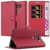 Cadorabo Hülle für LG V20 in Karmin ROT - Handyhülle mit Magnetverschluss, Standfunktion & Kartenfach - Hülle Cover Schutzhülle Etui Tasche Book Klapp Style