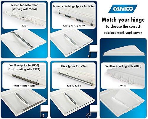 Camco 40160/40167 White Unbreakable Polycarbonate Vent Lid - Jensen (pre 1994)