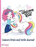 Unicorn Draw and Write Paper for Kids: Grades K-2 Primary Composition Half Page Lined Paper with Drawing Space (8.5 x 11 Notebook), Learn To Write and Draw Journal (Journals for Kids)