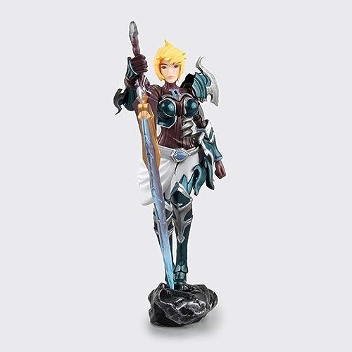 ZDNALS Statue de Jouet League of Legends, modèle de Jeu Riven, Jouet de décoration de Bureau à Domicile -20CM La Statue