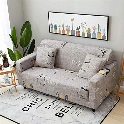 MIMORE - Funda elástica elástica para sofá de sala de estar, diseño seccional, color 4, 1, asiento 90, 140 cm