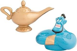 Vandor Disney Aladdin Genie & Lamp Sculpted Ceramic Salt & Pepper Set