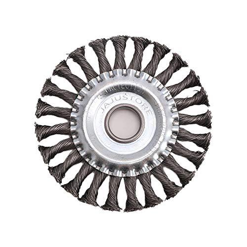 Rundbürsten Stahl Rundbürste Gezopft, 115 mm, Bohrung 22 mm, Stahldraht für Winkelschleifer