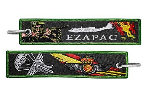 Tacro Llavero Bordado Ejército del Aire Español EZAPAC Escuadrón de Zapadores Paracaidistas Verde