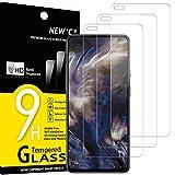 new'c 3 pezzi, vetro temperato compatibile con oneplus nord, pellicola prottetiva anti graffio, anti-impronte, durezza 9h, 0,33mm ultra trasparente, ultra resistente
