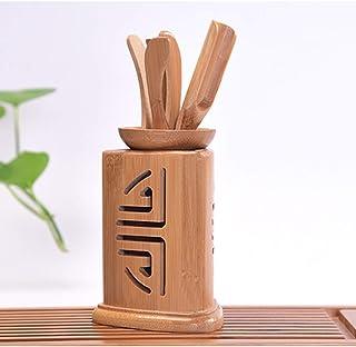 VICOODA 茶道具 六君子 竹製 茶器 ティー用品 お点前セット 中国 茶道 茶筒 茶則 茶入 茶針 茶挟 茶杓 6点セット (A)