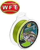 WFT TF8 Raubfisch Schnur Chartreuse 150m, geflochtene Schnur, Angelschnur, Hechtschnur, Zanderschnur, Barschschnur, Forellenschnur, Meeresschnur, Durchmesser/Tragkraft:0.18mm / 13kg Tragkraft