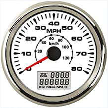 ELING Waterproof Marine Auto GPS Speedometer Odometer 0-80MPH 0-120KM/H with ODO COG Trip 85mm