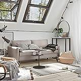 VASAGLE Sofa 3 Sitzer, Couch mit Bezug aus Leinenimitat, 180 x 82 x 83 cm, Polstermöbel für kleine Wohnungen, Gästezimmer, Jugendzimmer, mit Holzgestell, einfacher Aufbau, beige, LCS10BE - 3