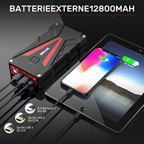 BuTure Booster Batterie - 800A 12800mAh Portable Jump Starte