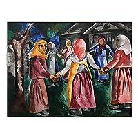 ナタリアゴンチャロワキャンバス油絵「ホロヴォート」アート装飾ポスター背景壁美的ホームルーム室内装飾50x75cmx1フレームなし