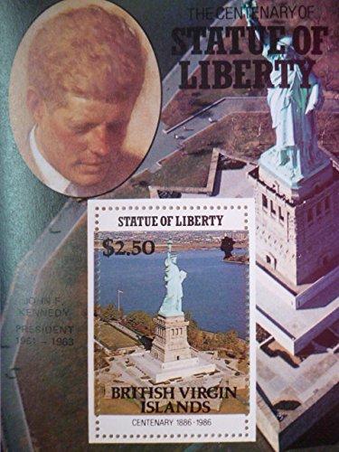英領バージン諸島『自由の女神100周年/アメリカ歴代大統領』(ケネディ)
