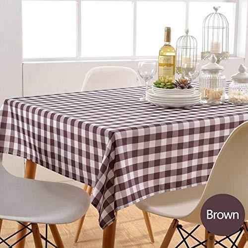 Nappe de tablePetite nappe carrée Tissu de table à manger en polyester imperméable et résistant à l'huile,coffee,130cm*180cm