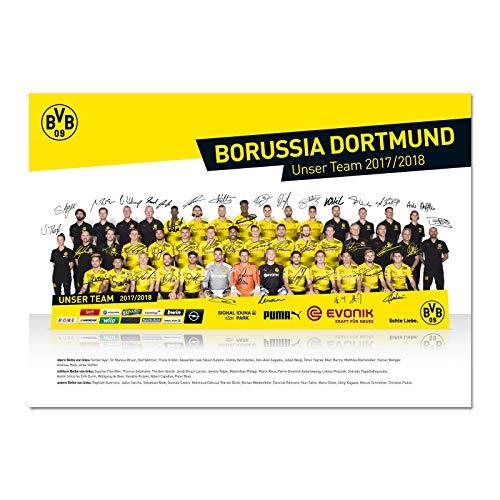Borussia Dortmund BVB Poster Mannschaft 2017/18