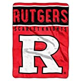 Rutgers Scarlet Knights 'Basic' Raschel Throw Blanket, 60' x 80'