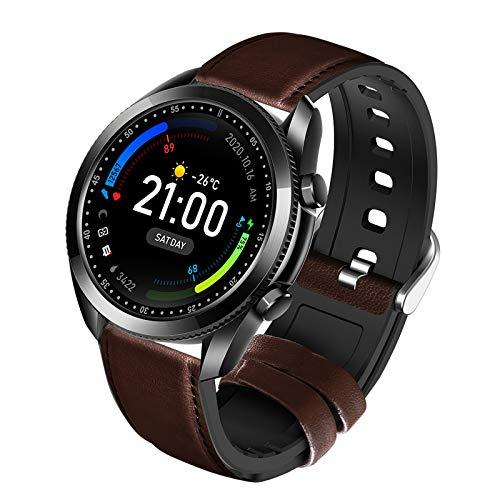 YQY Reloj Inteligente, rastreadores de Fitness con Monitor de Ritmo cardíaco Monitor de oxígeno de Sangre, Impermeable IP67 Rastreadores de Actividad Gimnasio para Hombres Mujeres,Negro