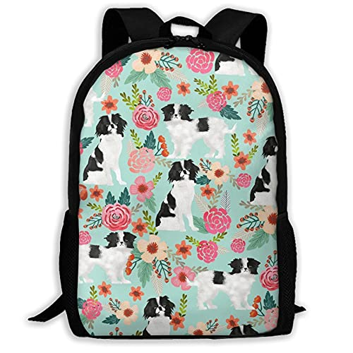 Bingyingne Zaino casual floreale per animali domestici per cani Zaino da viaggio impermeabile Zaino da viaggio Borsa da viaggio per computer portatili da viaggio Elegante borsa per computer