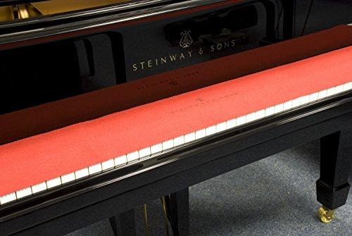 Steinway & Sons, Tastenläufer, Klaviaturabdeckung, Tastenabdeckung rot