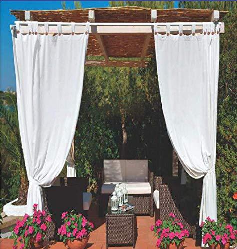Megashopitalia Tenda da Sole per Gazebo Pergola Veranda Impermeabile Anti-Muffa Resinata Idrorepellente 140x270cm (Bianco)
