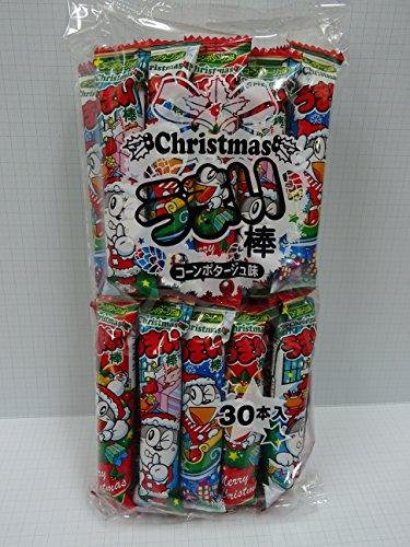 やおきん うまい棒 Christmasコンポタージュ味 クリスマスパッケージ 1袋(30入り)