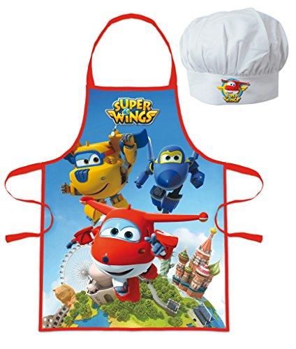 Tablier et toque de chef cuisinier Super Wings - Enfant cusine 3/8 ans - 344