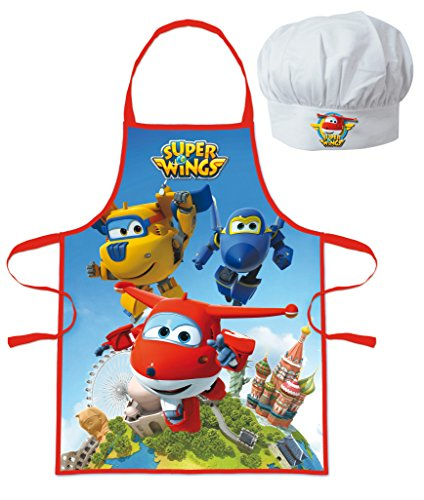 Schort en kookpet Super Wings - kinderen werkplaats 3/8 jaar - 344