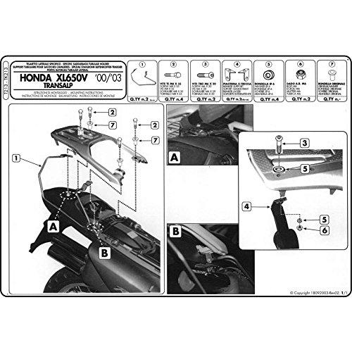 Givi T213 Alforja Soporte de Distancia para Honda XL 650 V Transalp Bj. 00-07