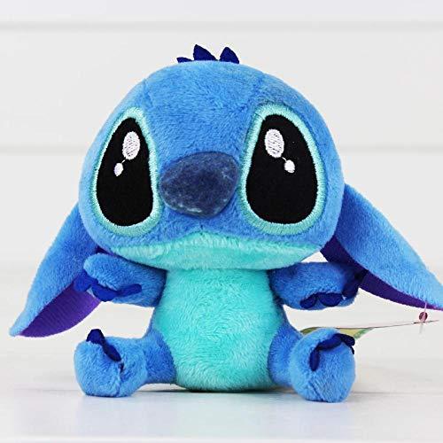 WWWL Juguete suave 4 '10 cm Lilo Stitch Plush Toys Muñecas con lechón llavero suave relleno para niños regalos bebé juguete de peluche