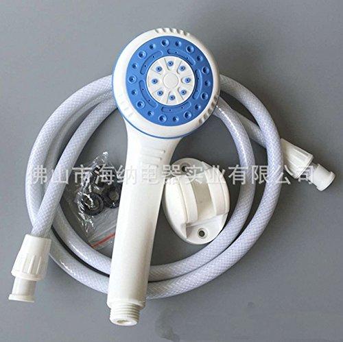 Meijunter QR ABS Plastics White Bathroom Handheld Ordinateur de poche Shower Spray Sprayer Water-Saving Shower #4
