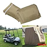 Yardwe Impermeabile Golf Cart Covers Rain 2/4 Passenger per Yamaha Club Car Modello Ez-Go - Taglia S
