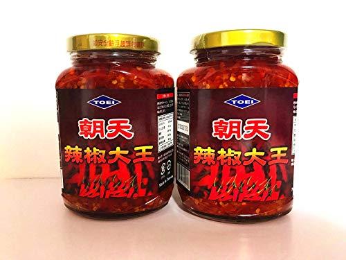 台湾辣椒大王 TOEI 唐辛子具入りラー油 調味料 380g ×2点
