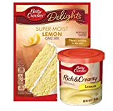 Betty Crocker Super Moist Lemon Cake Mix and Betty Crocker Rich & Creamy Lemon Frosting Bundle - 1 of Each - 2 Items. 'There's Pudding in the mix!' Cake Mix