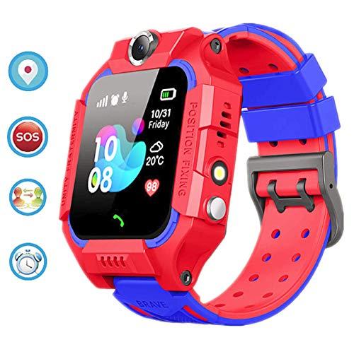 linyingdian Kids Smartwatch, Kids Smart Watch met waterdicht, IP67 LBS SOS, Camera, Gaming, Smartwatch met simkaartsleuf, Gift Boy Girl (3 tot 12 jaar oud) compatibel met iOS / Android (Rood)