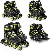 SportVida Inline skates voor kinderen en volwassenen, 4-in-1, verstelbare schaatsen, Triskates, in grootte verstelbaar,...