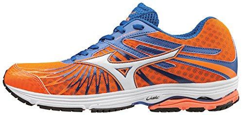 Mizuno Wave Sayonara 4, Zapatillas de Running para Hombre, Naranja (Clownfish/White/Nautical Blue), 39 EU