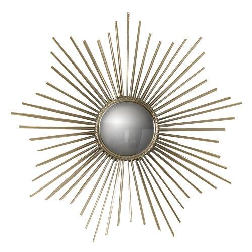Global Views Mini Sunburst Spiegel Art Deco Mini Nickel