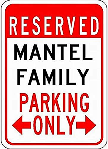 mengliangpu8190 Metalen borden Mantel Familie Parkeerplaats - Aangepaste Achternaam - 8