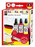 Marabu 171900086 - Fashion-Spray Set 'Fan' 3 x 100 ml Sprühfarbe für Stoff inkl. 1 Gratis...