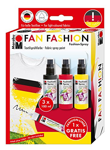 Marabu Fashion-Spray Trend-Set 3 x 100 ml del Ventilador de la Moda
