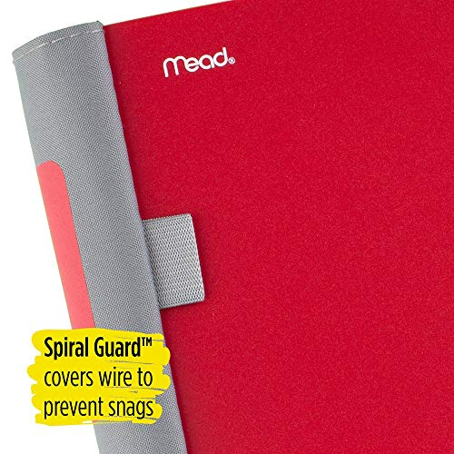 Five Star Advance Spiral Notebook, 5 Subject, College Ruled Paper, 200 Sheets, 11 x 8-1/2 inches, Red (73146) Photo #4